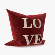 Almohada amor modelo 3d