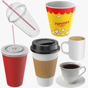 Cups Collection 3d model