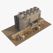 工業用冷却塔3 3d model