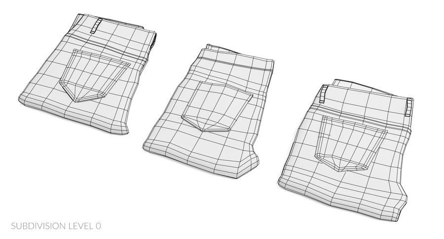 접힌 청바지 세트 royalty-free 3d model - Preview no. 14