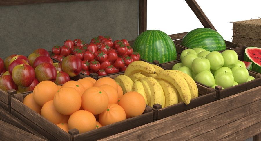 Market Stall royalty-free 3d model - Preview no. 5