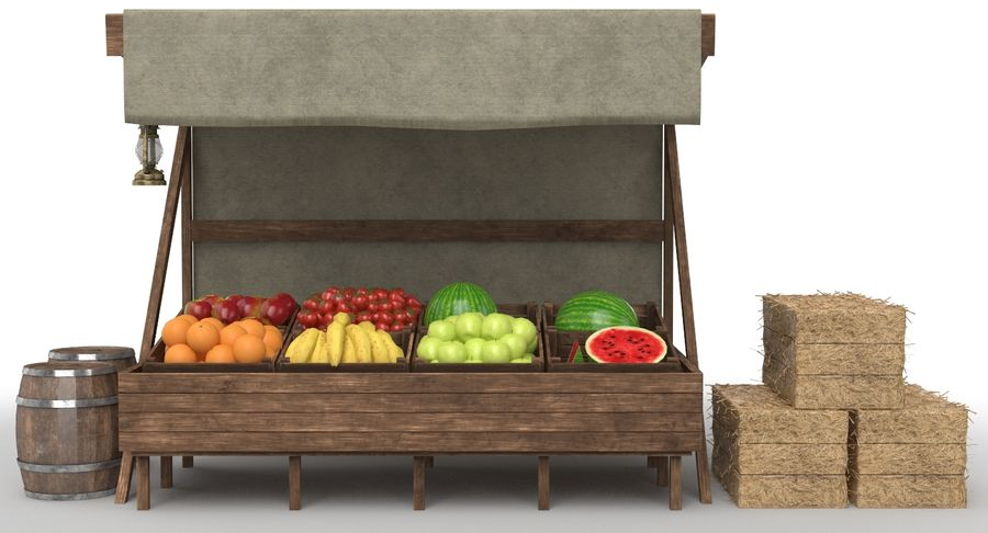 Market Stall royalty-free 3d model - Preview no. 4