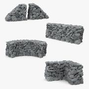 Stone Wall 3D Modelsコレクション 3d model