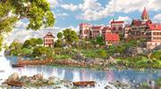 Village River miljö 3d model