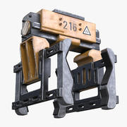 Garra robótica 3d model