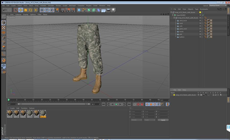 Pantalones Acu Del Ejercito Con Botas Modelo 3d 49 Max Obj Ma Fbx C4d Blend 3ds Free3d