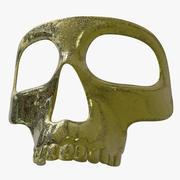 Masque squelette doré 3d model
