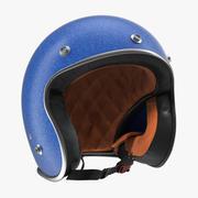 Винтажный мотоциклетный шлем 3d model
