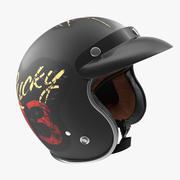 Capacete de moto vintage Lucky 13 modelo 3D 3d model