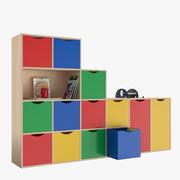 Kids Cabinet 3D 모델 3d model
