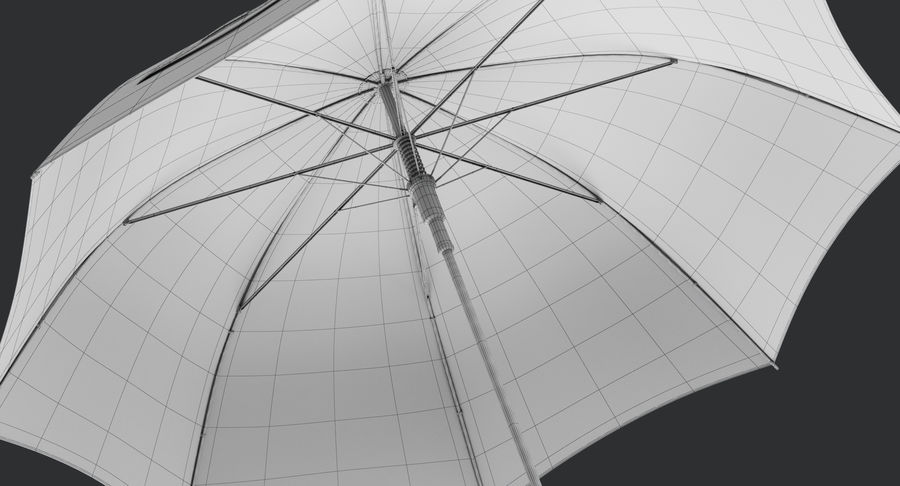 Umbrella Open royalty-free 3d model - Preview no. 17