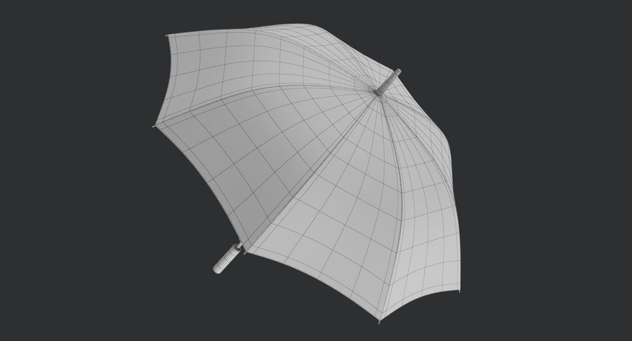 Umbrella Open royalty-free 3d model - Preview no. 14