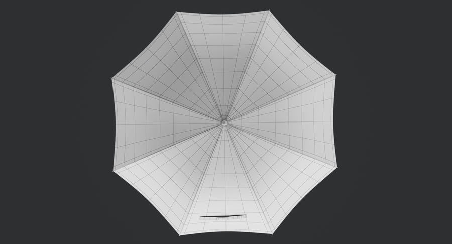 Umbrella Open royalty-free 3d model - Preview no. 18
