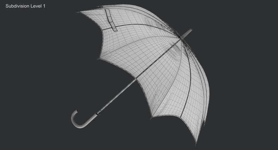 Umbrella Open 3 royalty-free 3d model - Preview no. 13