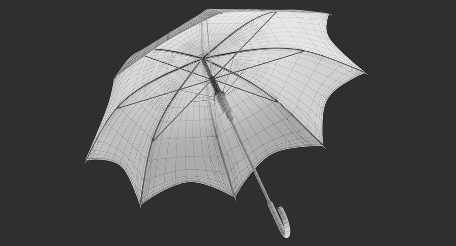 Umbrella Open 3 royalty-free 3d model - Preview no. 14