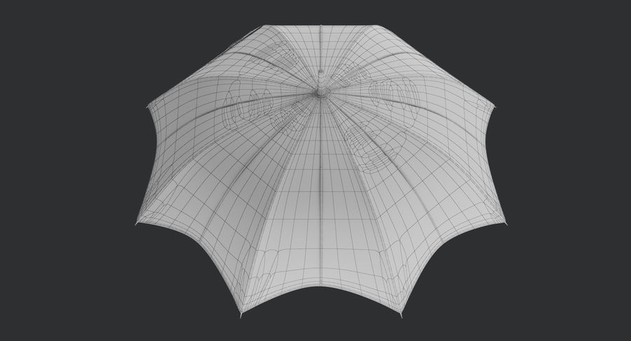 Umbrella Open 3 royalty-free 3d model - Preview no. 17