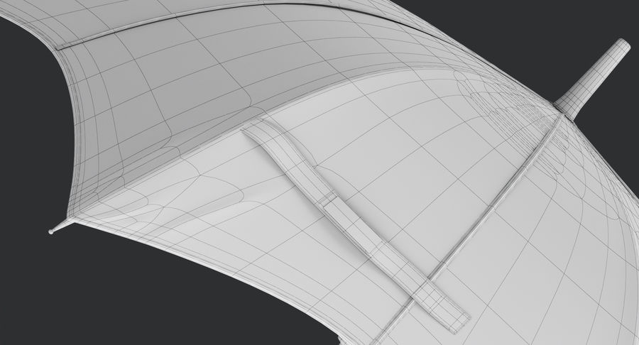 Umbrella Open 3 royalty-free 3d model - Preview no. 21