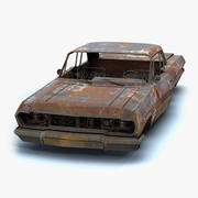Burnt Retro Car 01 3d model