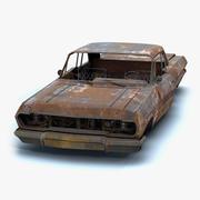Carro retrô queimado 01 3d model