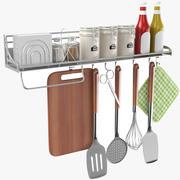 Kitchen Utensil Cookware Rack 3d model