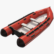 Rigid-Hulled Inflatable Boat 3d model