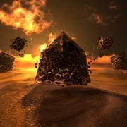 Strano ambiente desertico 3d model
