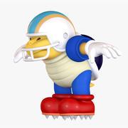 Chargin Chuck Football Super Mario Assets 3d model