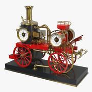 Fire Engine Clock 3d model