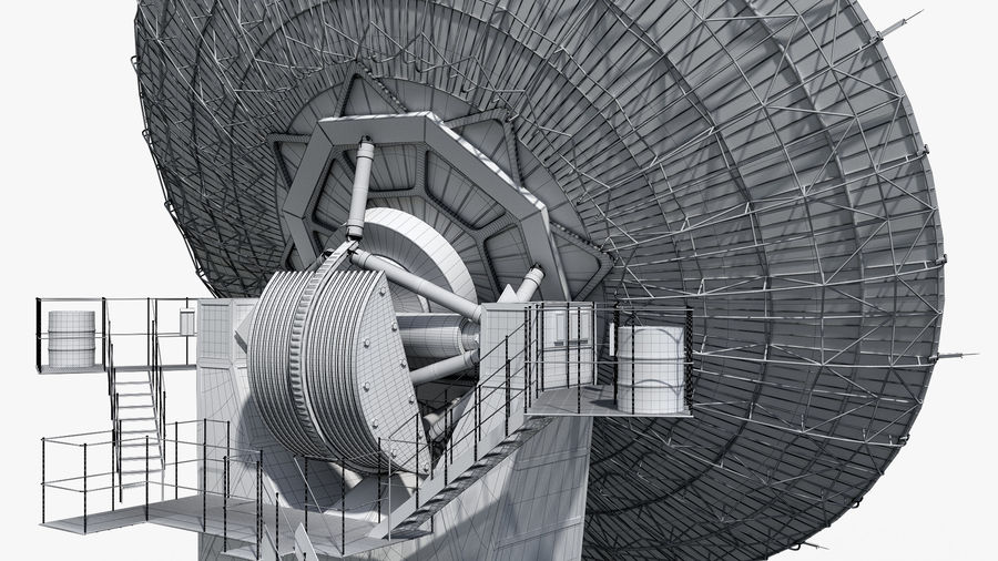 Antenna parabolica royalty-free 3d model - Preview no. 12