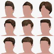 Hairstyle Collection 3 3d model