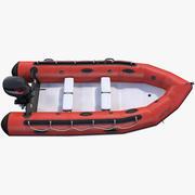 モーター付きリジッドインフレータブルボート 3d model