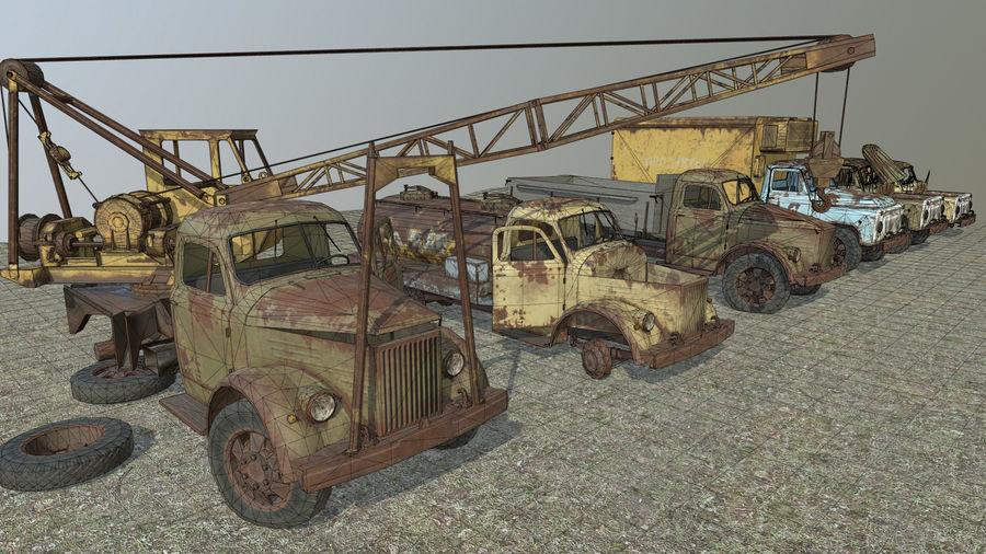 GAZ-51 & GAZ-52 royalty-free 3d model - Preview no. 7