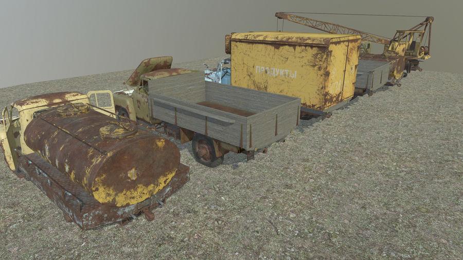 GAZ-51 & GAZ-52 royalty-free 3d model - Preview no. 3