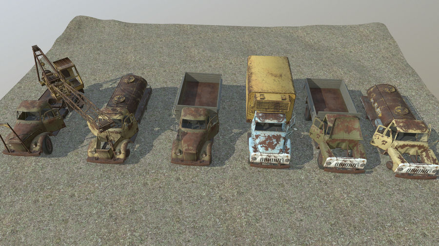 GAZ-51 & GAZ-52 royalty-free 3d model - Preview no. 5