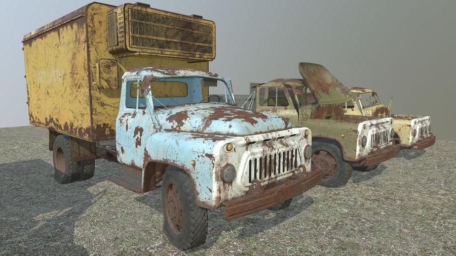 GAZ-51 & GAZ-52 royalty-free 3d model - Preview no. 6