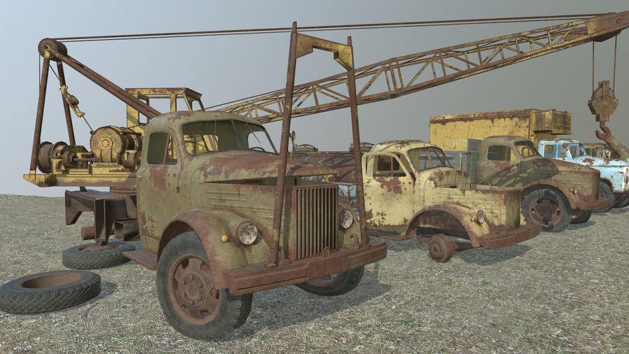 GAZ-51 & GAZ-52 royalty-free 3d model - Preview no. 1