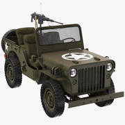 Armored Willys Army Jeep 3d model