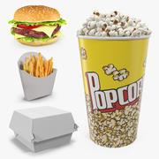 Kolekcja modeli 3D Fast Food 3d model