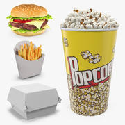 Fast Food 3D Models Collection 3d model