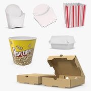 Fast Food Containers 3D Models Collection 2 3d model