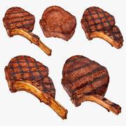Collection de steaks 3d model