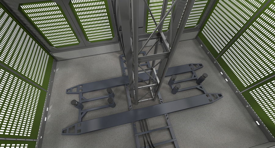 Gruas de construção royalty-free 3d model - Preview no. 10