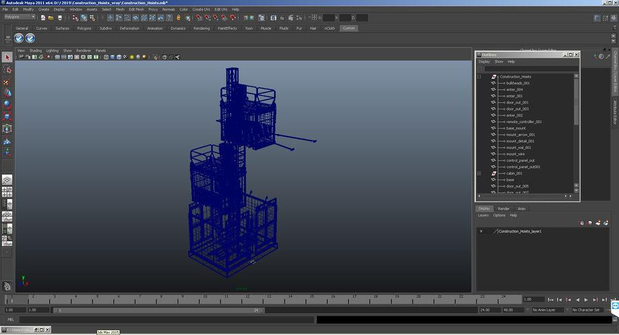 Gruas de construção royalty-free 3d model - Preview no. 30