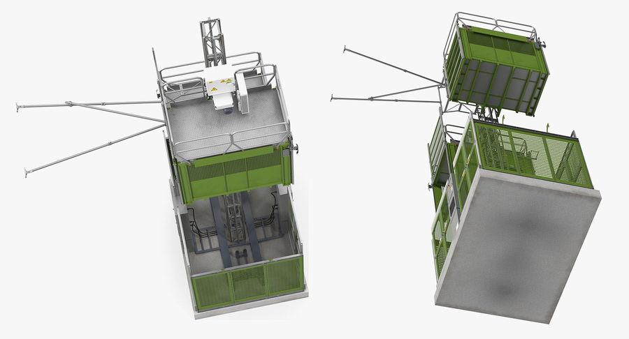 Gruas de construção royalty-free 3d model - Preview no. 6