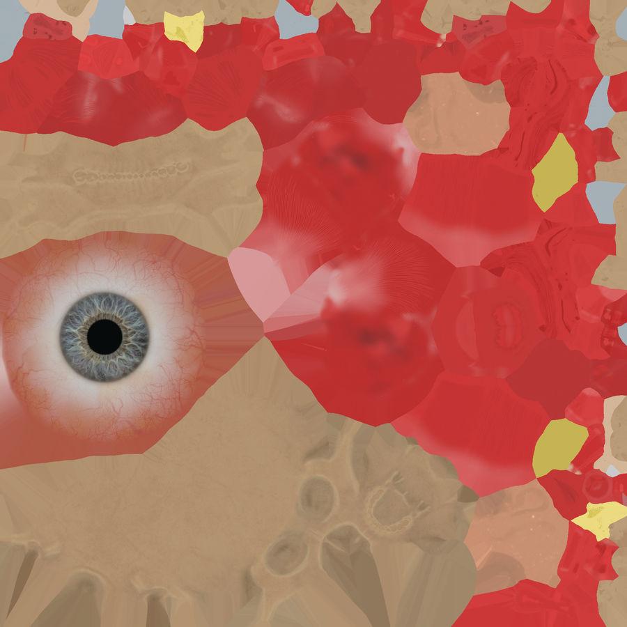 Anatomie musculaire de la tête complète royalty-free 3d model - Preview no. 73