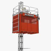 Elevador de construção em rack 3d model
