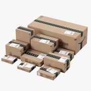 Caja de cartón Amazon modelo 3d