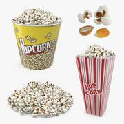 Popcorn 3D-modellencollectie 3d model
