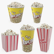 Popcorn Containers 3D Models Collection 3d model