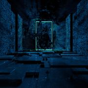 Dark Retro Horror Temple 3d model
